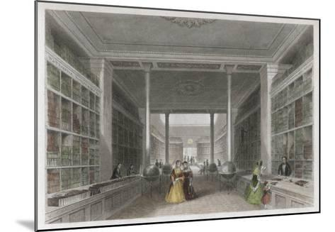 Grand Victorian Bookshop, W and T Fordyce's Publishing Establishment Newcastle Upon Tyne--Mounted Giclee Print