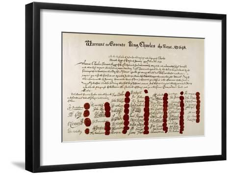 The Warrant for the Execution of Charles I--Framed Art Print