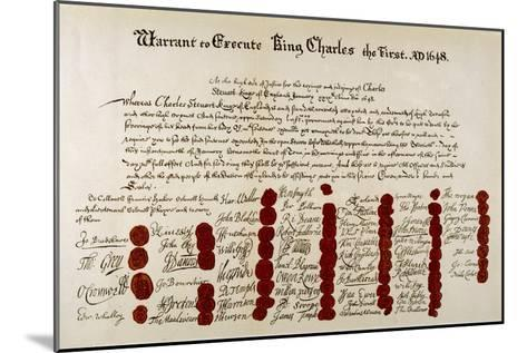 The Warrant for the Execution of Charles I--Mounted Giclee Print