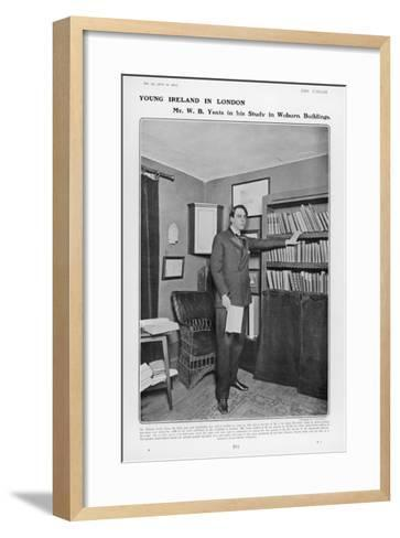 William Butler Yeats Irish Poet and Dramatist in His Study at Woburn Buildings London--Framed Art Print