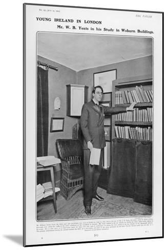 William Butler Yeats Irish Poet and Dramatist in His Study at Woburn Buildings London--Mounted Giclee Print