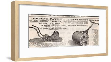 British Advertisement for a Lawn Mower--Framed Art Print