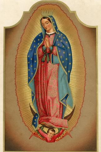 Nuestra Senora de Guadalupe Mexico Miraculously Imprinted--Stretched Canvas Print