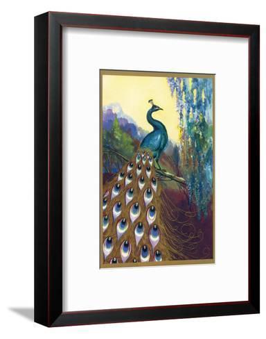 Ornamental Peacock--Framed Art Print