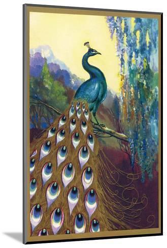 Ornamental Peacock--Mounted Giclee Print