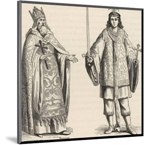 Prester John Legendary Christian King and Priest of the Middle Ages Pictured Here with His Page--Mounted Giclee Print