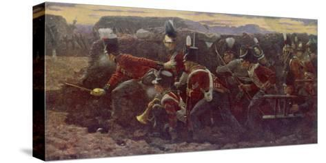 Peninsula War British Troops Under Wellington and General Picton Storm the Garrison at Badajoz--Stretched Canvas Print