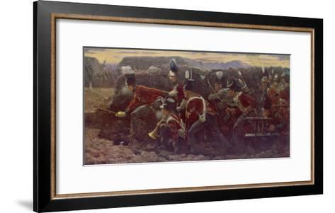 Peninsula War British Troops Under Wellington and General Picton Storm the Garrison at Badajoz--Framed Art Print