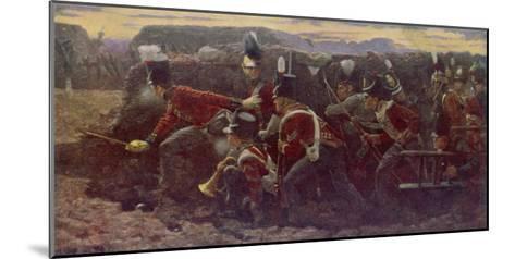 Peninsula War British Troops Under Wellington and General Picton Storm the Garrison at Badajoz--Mounted Giclee Print