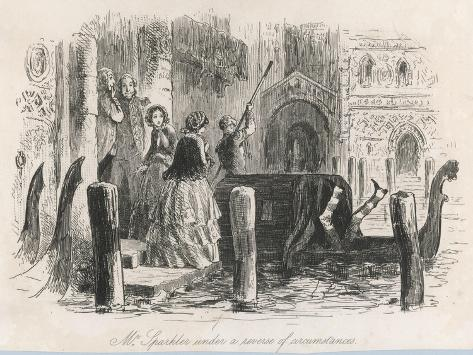 Frontispiece from the Centenary Edition of the Works of Charles Dickens--Stretched Canvas Print