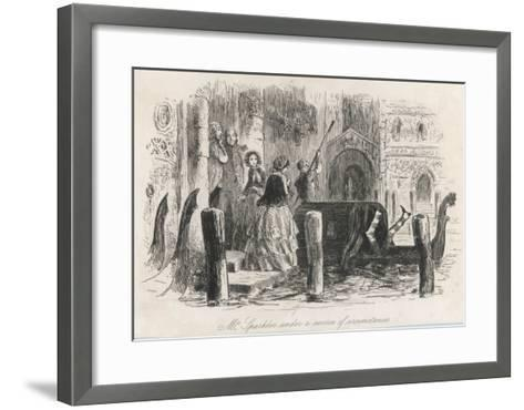 Frontispiece from the Centenary Edition of the Works of Charles Dickens--Framed Art Print