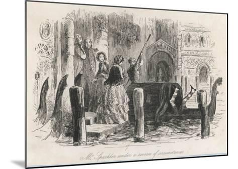 Frontispiece from the Centenary Edition of the Works of Charles Dickens--Mounted Giclee Print