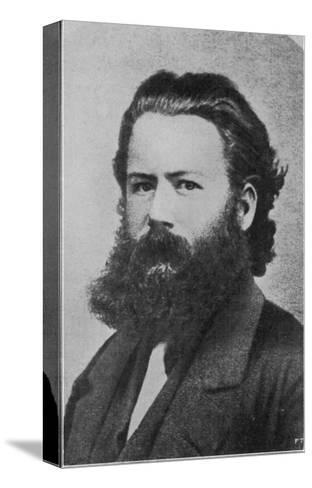 Henrik Ibsen Norwegian Writer at the Age of 29 When He was Director of the Theatre in Christiania--Stretched Canvas Print