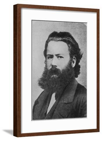 Henrik Ibsen Norwegian Writer at the Age of 29 When He was Director of the Theatre in Christiania--Framed Art Print