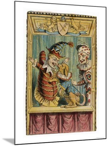 Mr. Punch with Toby the Dog and a Clown--Mounted Giclee Print