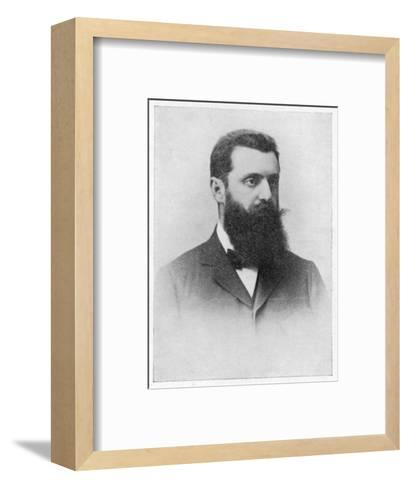 Theodor Herzl Hungarian Zionist Leader--Framed Art Print