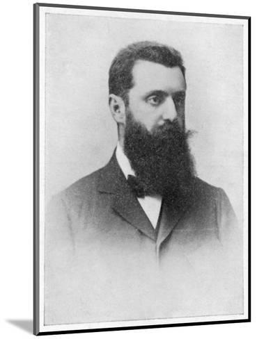 Theodor Herzl Hungarian Zionist Leader--Mounted Giclee Print