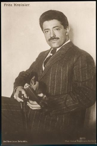 Fritz Kreisler Austrian-Born American Violinist and Composer--Stretched Canvas Print