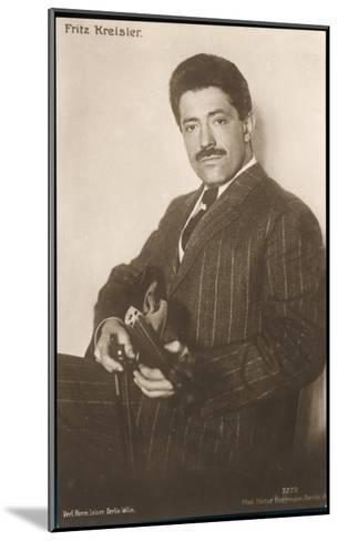 Fritz Kreisler Austrian-Born American Violinist and Composer--Mounted Giclee Print