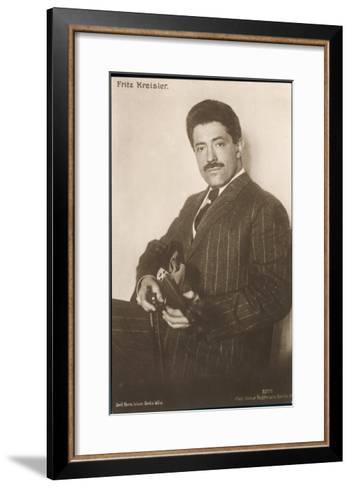 Fritz Kreisler Austrian-Born American Violinist and Composer--Framed Art Print
