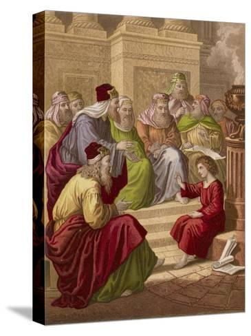 The Young Jesus Debates Theology with the Doctors of the Temple at Jerusalem--Stretched Canvas Print