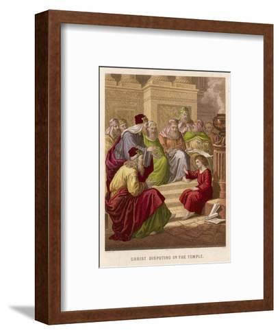 The Young Jesus Debates Theology with the Doctors of the Temple at Jerusalem--Framed Art Print