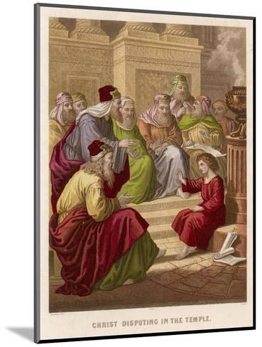 The Young Jesus Debates Theology with the Doctors of the Temple at Jerusalem--Mounted Giclee Print