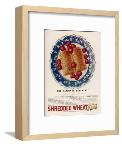 Advertisement for Shredded Wheat Promoting It as the National Breakfast--Framed Art Print