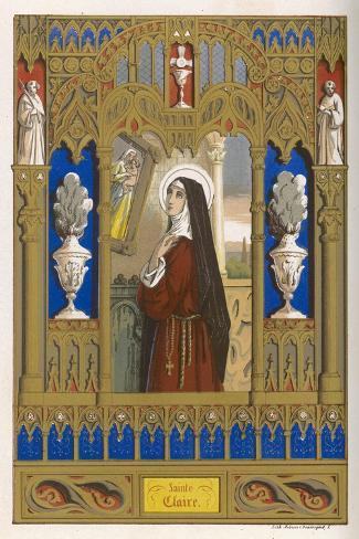 Saint Clare of Assisi Follower of S. Francesco--Stretched Canvas Print