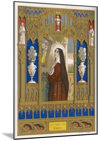 Saint Clare of Assisi Follower of S. Francesco--Mounted Giclee Print