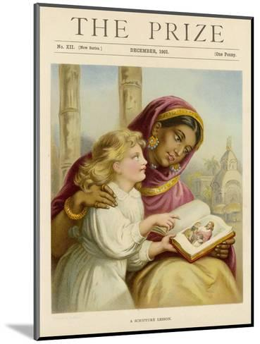 Little White Girl Teaches an Asian Woman About Jesus--Mounted Giclee Print