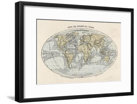 World Map of the Ocean Currents--Framed Art Print