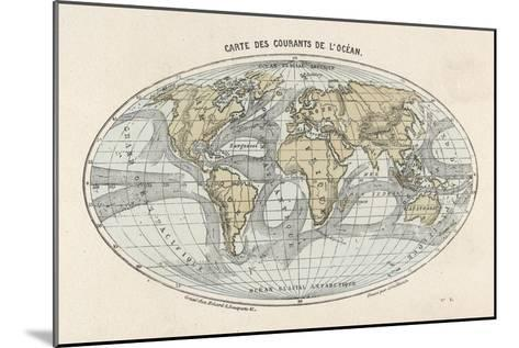 World Map of the Ocean Currents--Mounted Giclee Print
