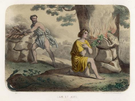 The First Murder: Cain Kills His Brother Abel and is Thereafter Marked for Life--Stretched Canvas Print