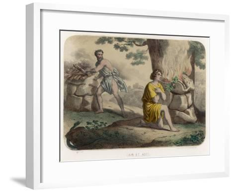 The First Murder: Cain Kills His Brother Abel and is Thereafter Marked for Life--Framed Art Print