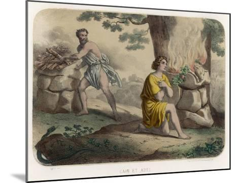 The First Murder: Cain Kills His Brother Abel and is Thereafter Marked for Life--Mounted Giclee Print