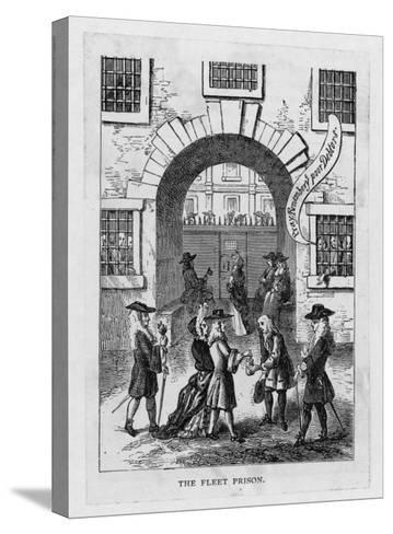 The Exterior of Fleet Prison with Debtor's Grate--Stretched Canvas Print