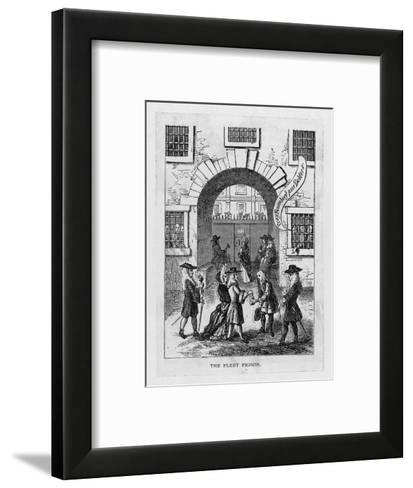 The Exterior of Fleet Prison with Debtor's Grate--Framed Art Print