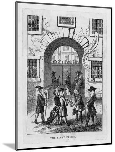The Exterior of Fleet Prison with Debtor's Grate--Mounted Giclee Print