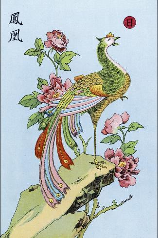 Fong Hoang, The Chinese Phoenix--Stretched Canvas Print
