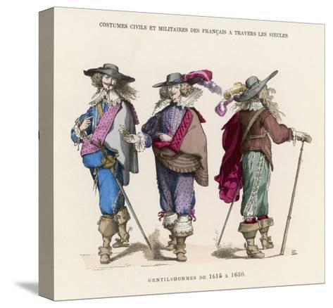 "French ""Gentilshommes"" Dressed in the Height of Male Fashion--Stretched Canvas Print"