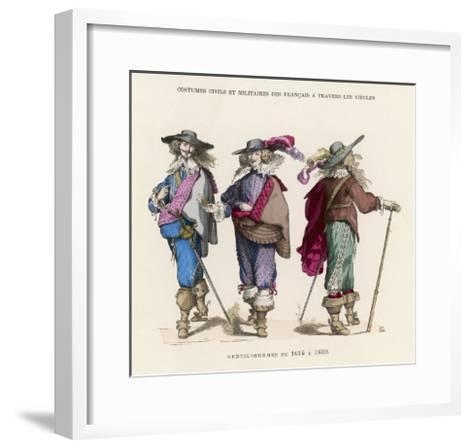 "French ""Gentilshommes"" Dressed in the Height of Male Fashion--Framed Art Print"