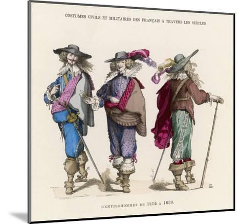 "French ""Gentilshommes"" Dressed in the Height of Male Fashion--Mounted Giclee Print"
