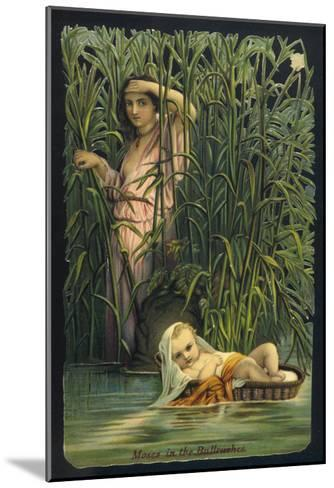 The Infant Moses is Cast Adrift Upon the Waters of the Nile--Mounted Giclee Print