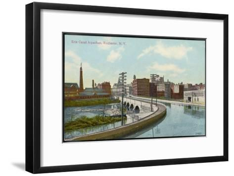 Erie Canal the Canal Aqueduct at Rochester New York--Framed Art Print