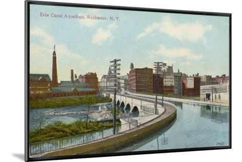 Erie Canal the Canal Aqueduct at Rochester New York--Mounted Giclee Print