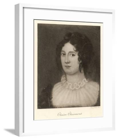 Claire Clairmont Stepdaughter of William Godwin and Mother of Byron's Daughter Allegra--Framed Art Print