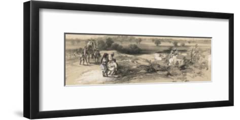 View of Mooltan (Multan) Fort from the West--Framed Art Print