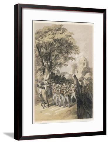 "Sikh Rebel ""Dewan Moolraj"" in Custody after the Defeat of Sikh Forces in Mooltan--Framed Art Print"