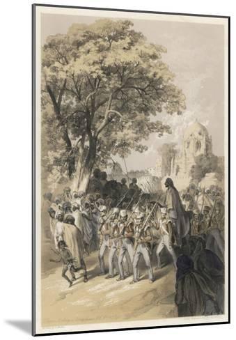 "Sikh Rebel ""Dewan Moolraj"" in Custody after the Defeat of Sikh Forces in Mooltan--Mounted Giclee Print"